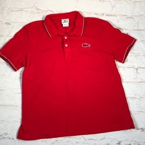 Lacoste polo shirt.  Size 5/Medium. Red